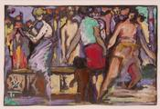 Musicians in a Crowd by Frank Brangwyn