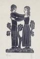 Man and Woman Embracing by Eric Gill