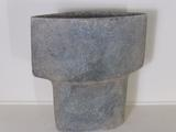 Large spade shaped stoneware vessel by Paul Philp